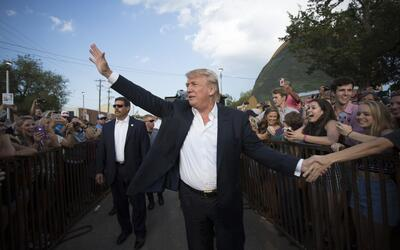 Donald Trump en un evento en Oklahoma City