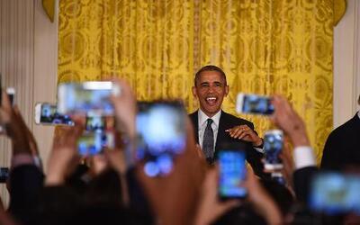 La pareja presidencial invita a hispanos a la Casa Blanca para festejar...