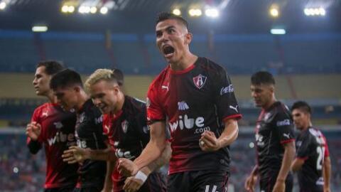 Atlas celebra el único gol del partido.