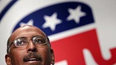 Michael Steele se convirtió en el primer presidente negro del Partido Re...