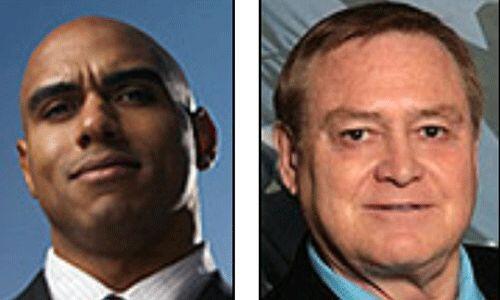 Los candidatos del Partido Reformista de Estados Unidos: Andre Barnett y...