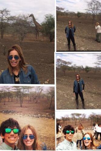 En África, visitó un safari.