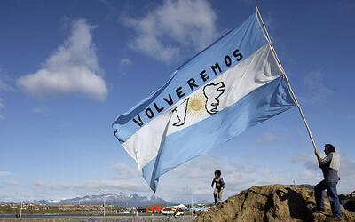 Veteranos de la guerra en las Malvinas en una conmemoración del conflict...
