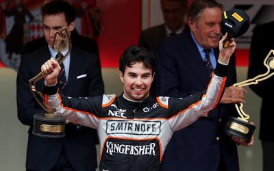 Sergio Pérez quedó tercero en Mónaco.