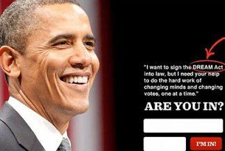 El anuncio de la campaña de reelección del presidente Barack Obama donde...
