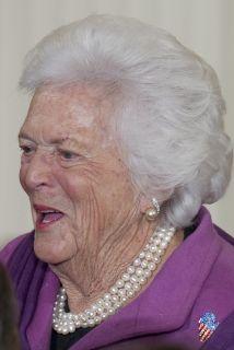La ex primera dama Barbara Pierce Bush.