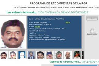 Imagen del portal del Programa de Recompensas de la Procuraduría General...