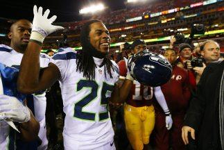 Richard Sherman continuó con su costumbre de burlarse de rivales (AP-NFL).