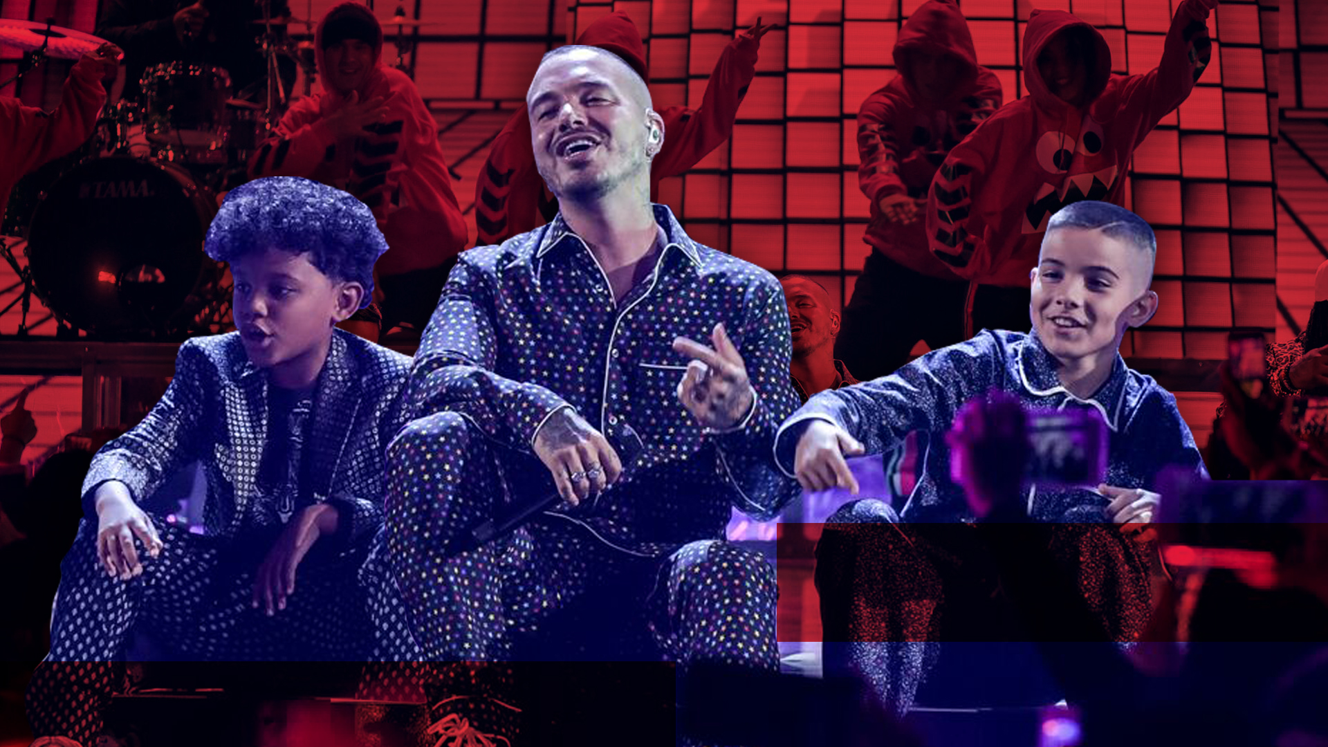 Resultado de imagen para J Balvin, Zion & Lennox - No Es Justo (Premios Juventud 2018)