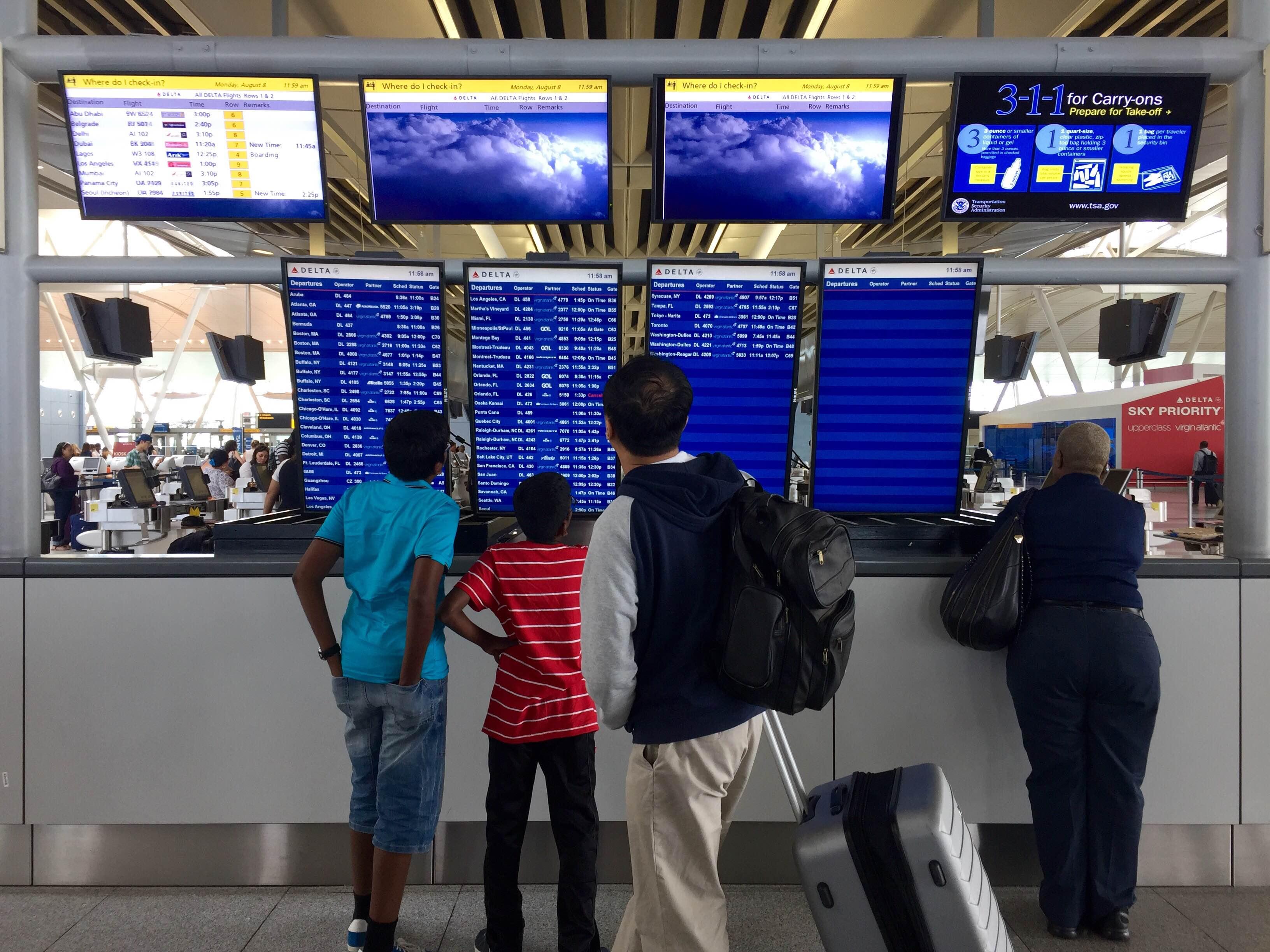 En el aeropuerto JFK de Nueva York apenas se sintió la crisis de ...