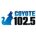 LOGO IMAGE COYOTE 102.5 FM SOCIAL FOLLOW
