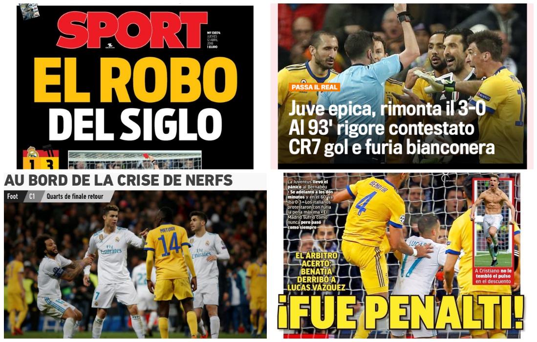 Robo o penalti?: la prensa española debate por el pase del Real ...