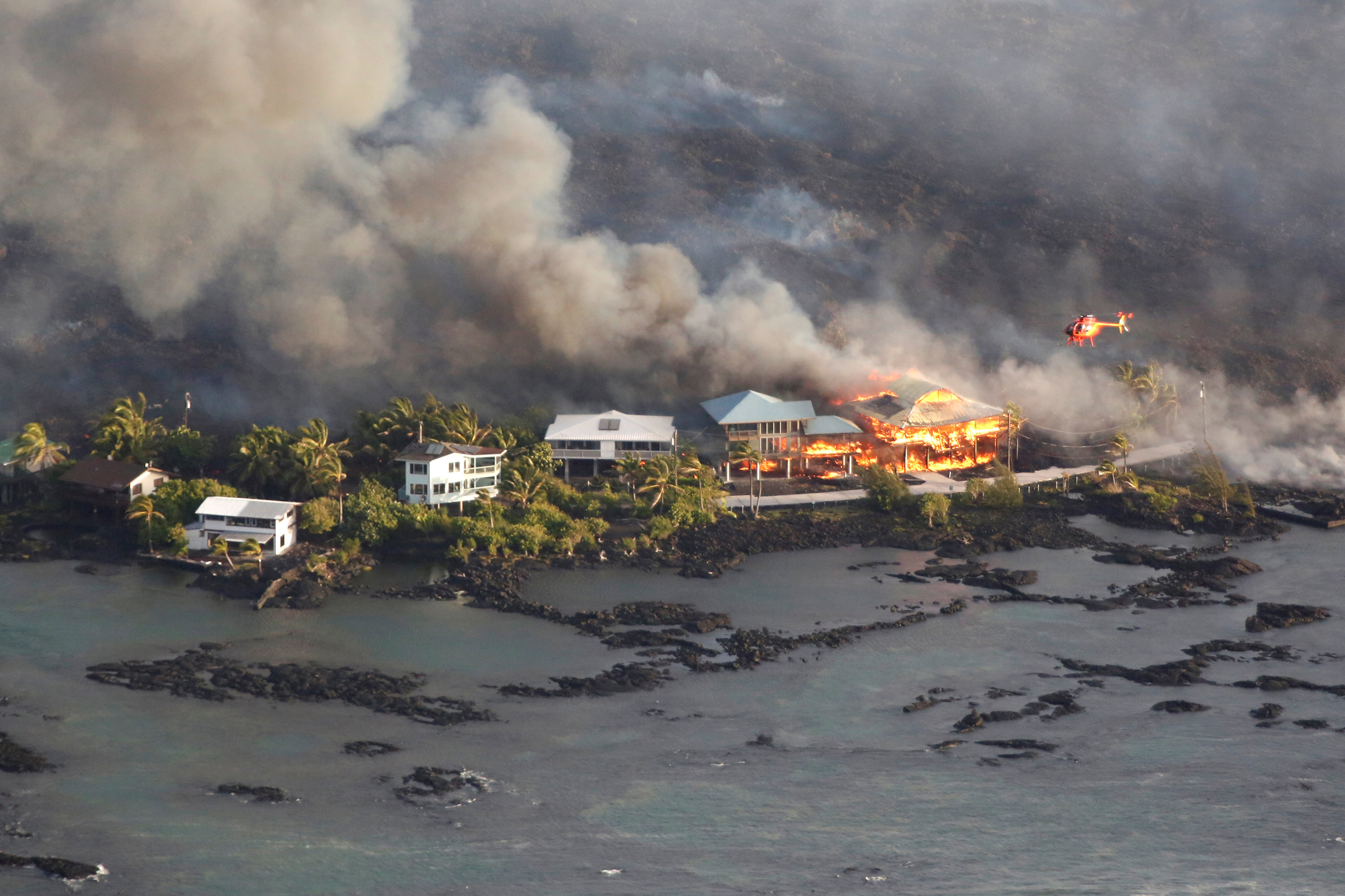 Hawai: desapareció un barrio por la lava del volcán Kilauea