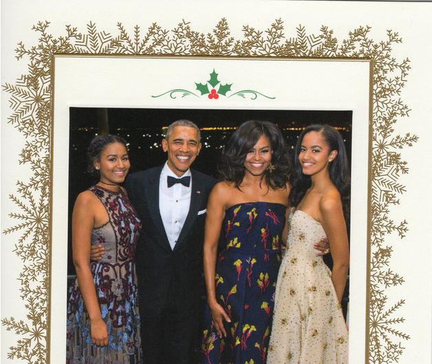 Empezó La Despedida: Los Obama Envían Su última Tarjeta De Navidad
