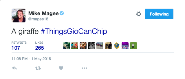 #ThingsGioCanChip hashtag meme