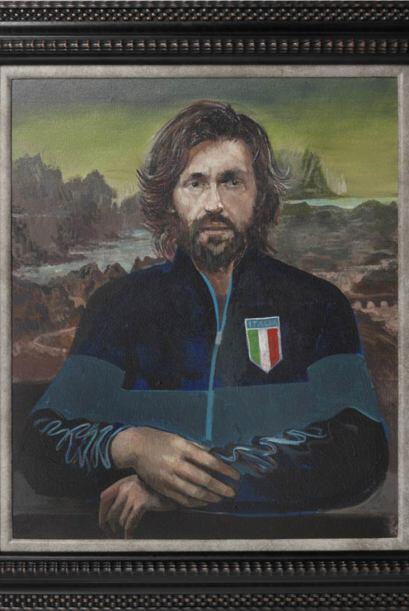 Andrea Pirlo al estilo de Da Vinci con 'La Mona Lisa'.