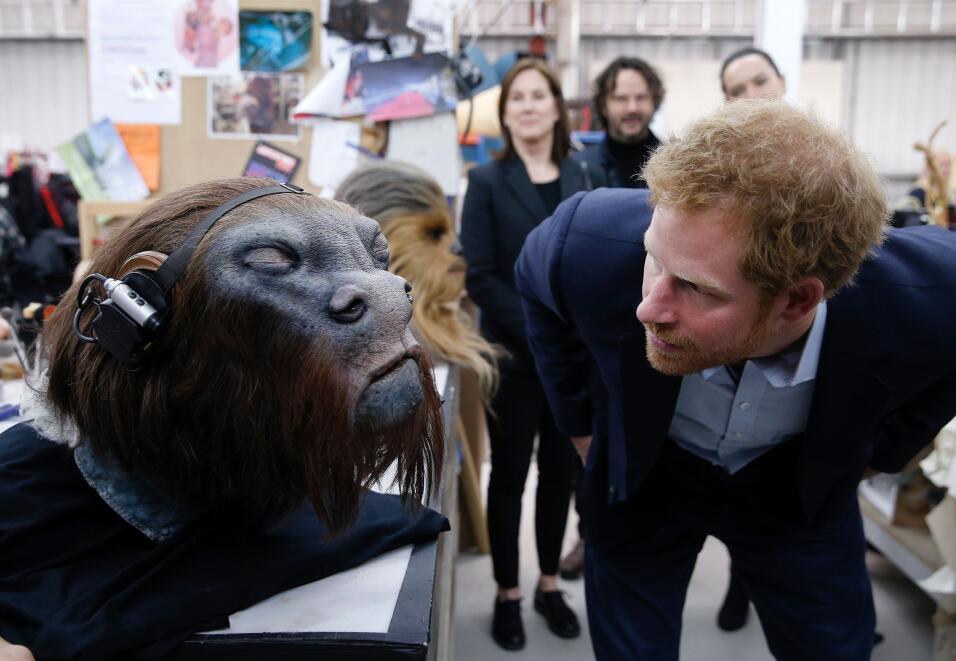Harry y William al estilo Star Wars