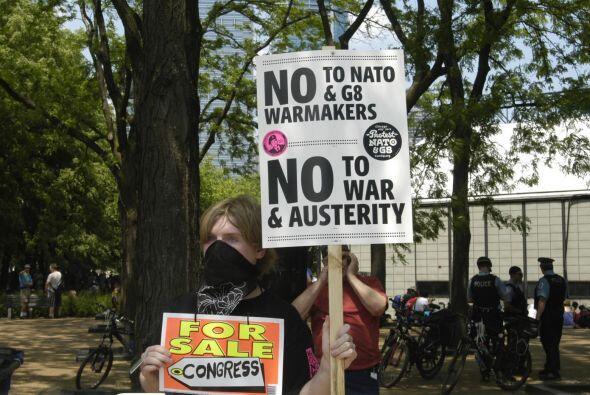 Protestas en Chicago por la cumbre de la OTAN