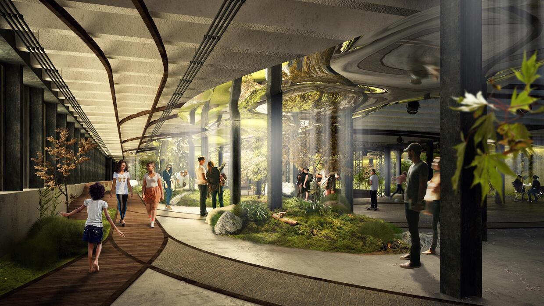 Imágen de una propuesta para el Parque Lowline.