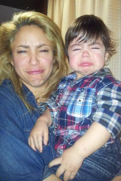 A Shakira y al pequeño Milan les dolió que no clasificara el equipo espa...