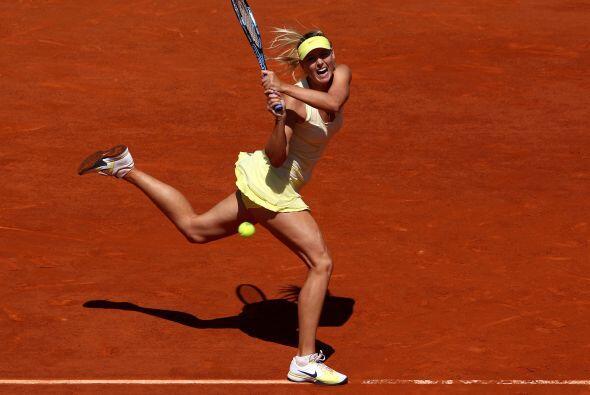 """Sharapova dijo al final del partido, """"jugué bien los puntos importantes,..."""