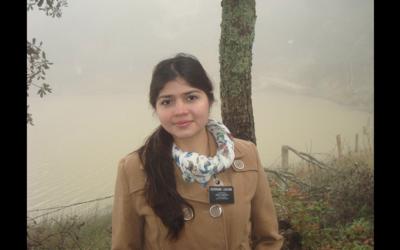 La mexicana Elena Laguna Salgado, de 26 años de edad, estaba repo...