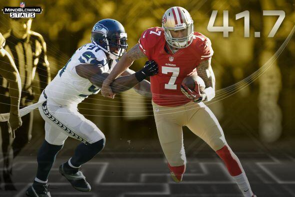 5 Kaepernick in Seattle: En 2013, Colin Kaepernick tuvo un índice de pas...