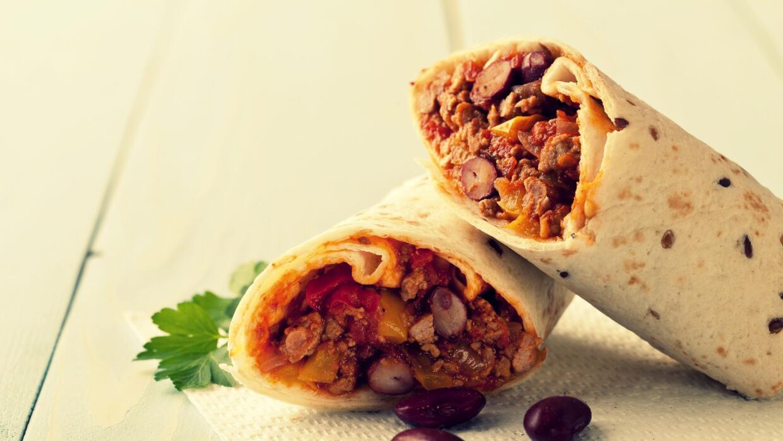 Burrito con frijoles