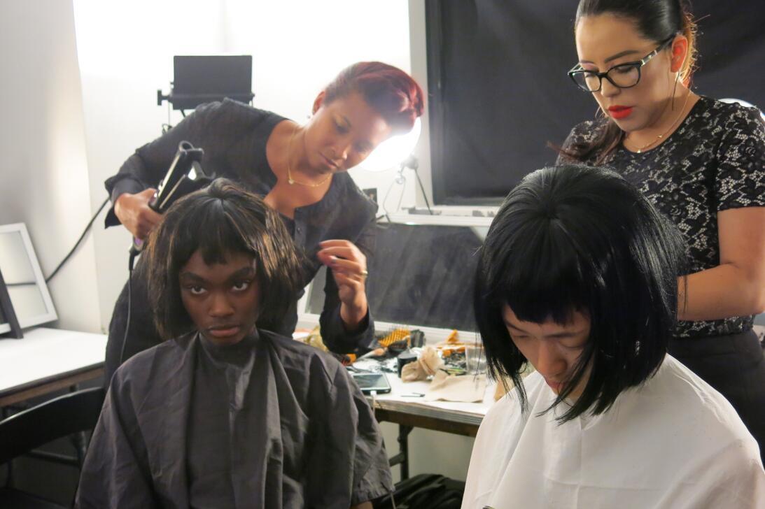 Las pelucas y el maquillaje del desfile de Georgine en NYFW IMG_4238.jpg