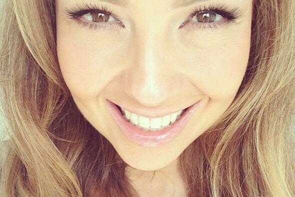 Thalía se ve feliz y siempre lo demuestra con una sonrisa.