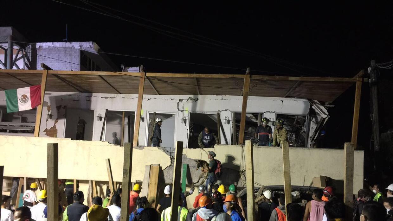 El Colegio Enrique Rébsamen tras el terremoto. (Archivo)