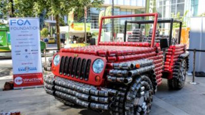 Jeep Wrangler hecho con latas