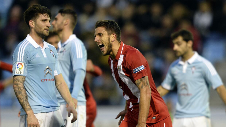 Sevilla le resiste al Celta con 1 menos