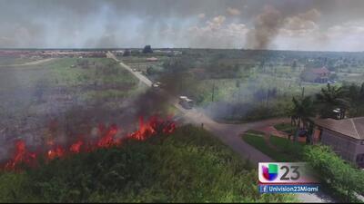 Bomberos continúan combatiendo fuegos forestales