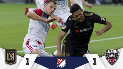 LAFC se deja empatar en casa por D.C. United en sufrida noche para Carlos Vela