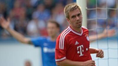 Lahm fue uno de los anotadores en este nuevo triunfo del Bayern.