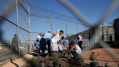 La imagen fue tomada en octubre de 2015 en una prisión estatal de...