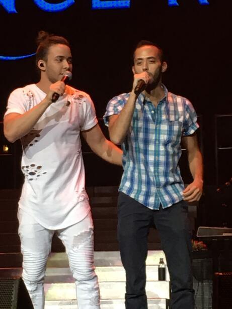 Diego Guirado sube a cantar con Prince Royce