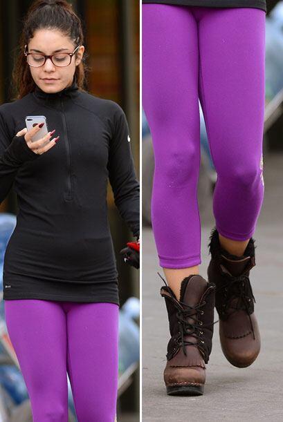 Vanessa es fanática de lucir botas de este tipo con 'leggins'. La verdad...