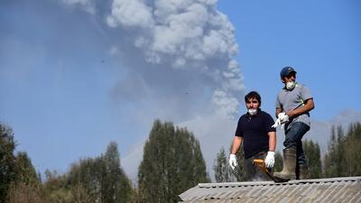 Cenizas del volcán Calbuco llegan a Buenos Aires