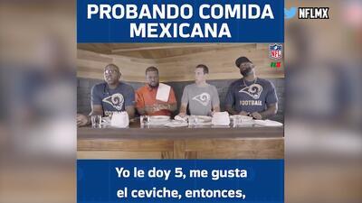 Estrellas de la NFL prueban la comida mexicana y quedan fascinados