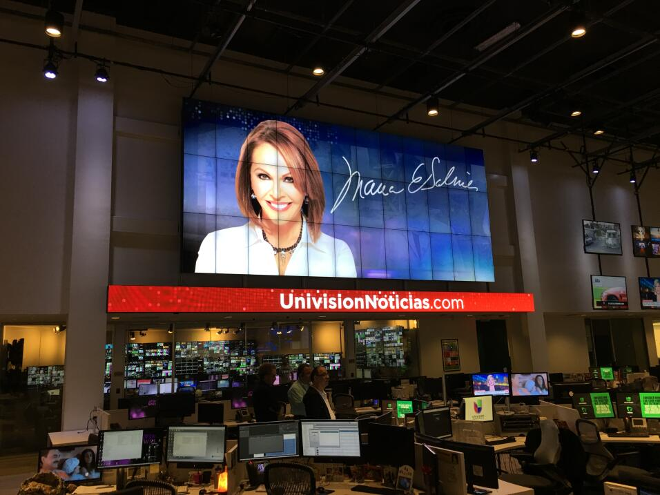 Maria Elena Salinas after her last news Univision broadcast