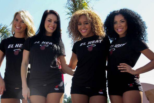 Las bellas Miami Heat cheerleaders!