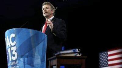 El senador por Kentucky Rand Paul se impuso en sondeos de opinión como f...