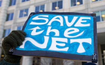 Protesta contra la desregulación del mercado de telecomunicaciones.