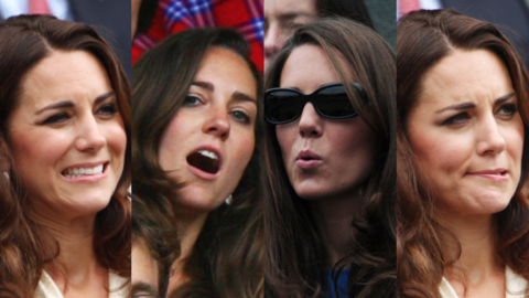Kate Middleton muecas