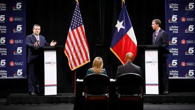 Inmigración y control de armas enfrentan al republicano Ted Cruz y al demócrata Beto O'Rourke en su primer debate