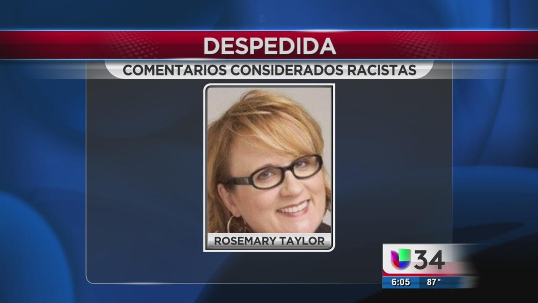 Despedida por cometarios racistas