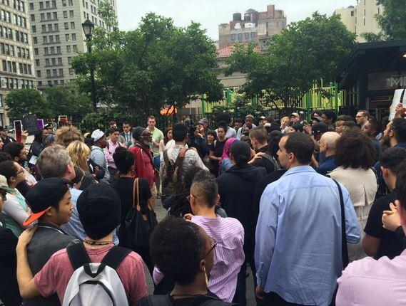 Vigilia en Union Square