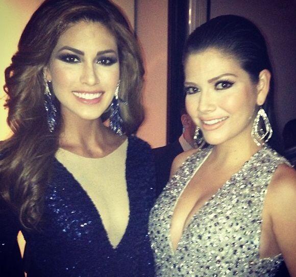 Ana Patricia con la hermosa Miss Universo Gabriela Isler.